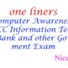 One liners Computer Awareness